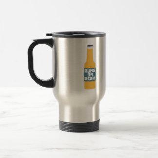 Runs on Beer Bottle Zcy3l Travel Mug