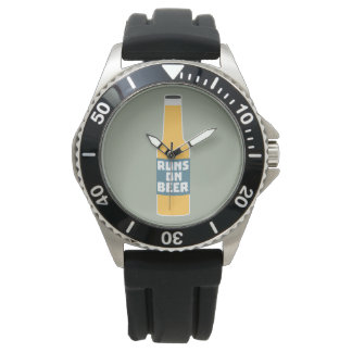 Runs on Beer Bottle Zcy3l Watch