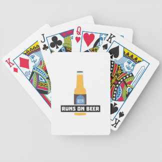 Runs on Beer Z7ta2 Bicycle Playing Cards