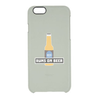 Runs on Beer Z7ta2 Clear iPhone 6/6S Case