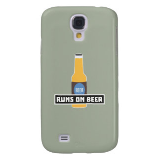 Runs on Beer Z7ta2 Galaxy S4 Case