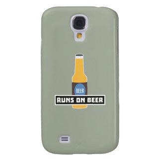 Runs on Beer Z7ta2 Galaxy S4 Case