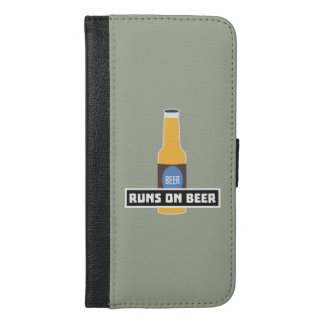 Runs on Beer Z7ta2 iPhone 6/6s Plus Wallet Case