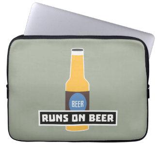 Runs on Beer Z7ta2 Laptop Computer Sleeves