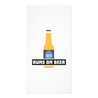 Runs on Beer Z7ta2 Photo Card Template