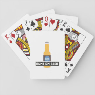 Runs on Beer Z7ta2 Playing Cards