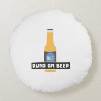 Runs on Beer Z7ta2 Round Cushion