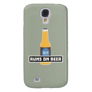 Runs on Beer Z7ta2 Samsung Galaxy S4 Cover