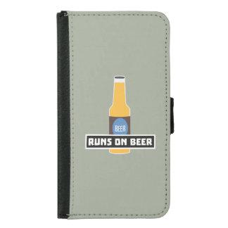 Runs on Beer Z7ta2 Samsung Galaxy S5 Wallet Case