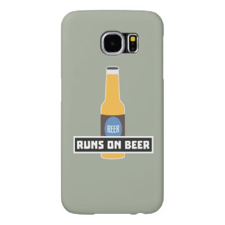 Runs on Beer Z7ta2 Samsung Galaxy S6 Cases
