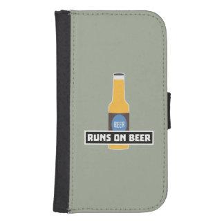 Runs on Beer Z7ta2 Samsung S4 Wallet Case