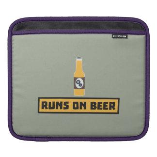Runs on Beer Zmk10 iPad Sleeve