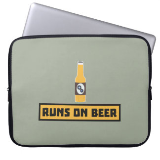 Runs on Beer Zmk10 Laptop Computer Sleeve