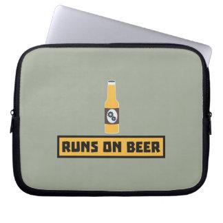 Runs on Beer Zmk10 Laptop Sleeve