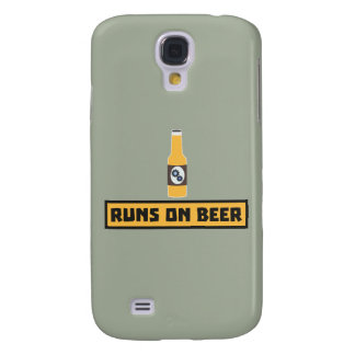 Runs on Beer Zmk10 Samsung Galaxy S4 Case