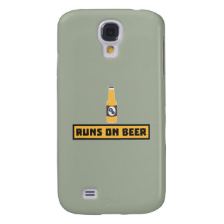 Runs on Beer Zmk10 Samsung Galaxy S4 Cover