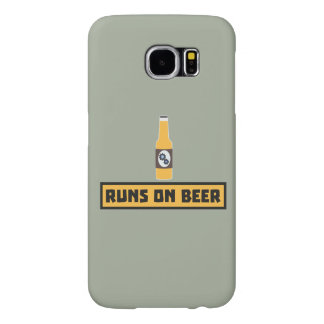 Runs on Beer Zmk10 Samsung Galaxy S6 Cases
