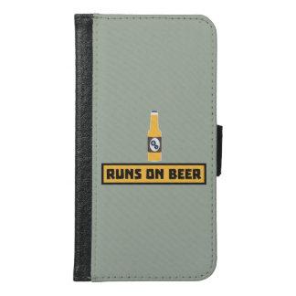Runs on Beer Zmk10 Samsung Galaxy S6 Wallet Case