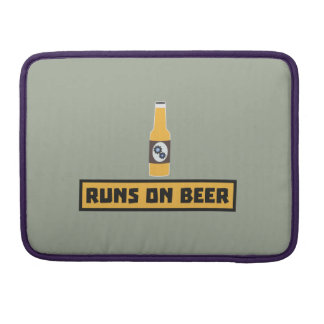 Runs on Beer Zmk10 Sleeve For MacBooks