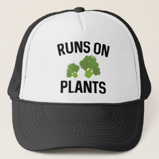Runs On Plants Trucker Hat