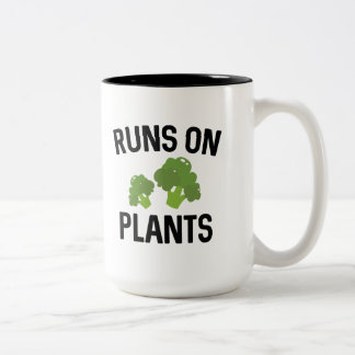 Runs On Plants Two-Tone Coffee Mug