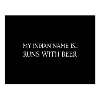 Runs With Beer Postcard