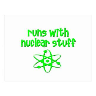 Runs With Nuclear Stuff Postcard