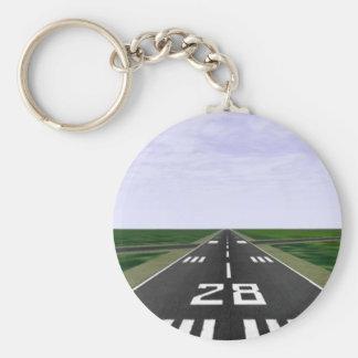 Runway Basic Round Button Key Ring