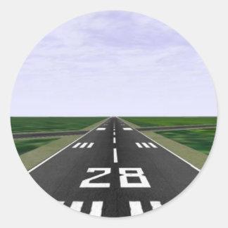 Runway Round Sticker
