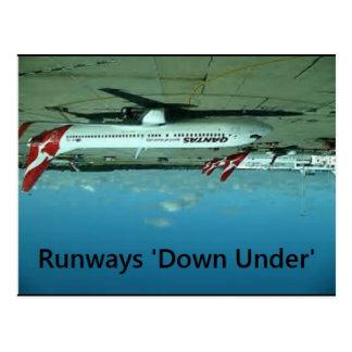 Runways Downunder Postcard - Flat Earth Meme