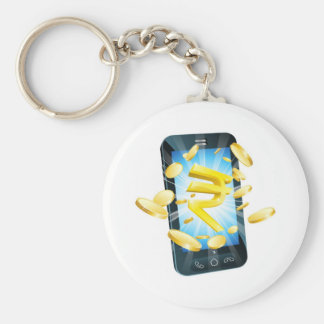 Rupee money phone concept keychain