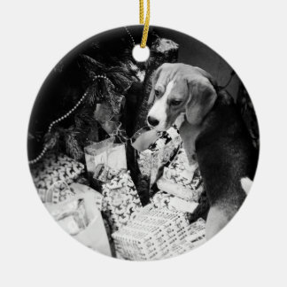 Rupert the Beagle Dog Christmas Ornament