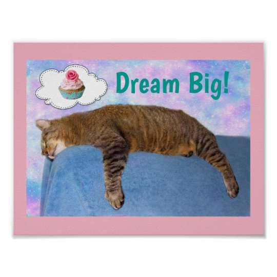 Rupie Cat Dream Big Poster