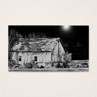 Rural Barn at night Business Card