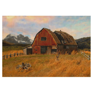 Rural Barn painting by Jann Paxton Wood Poster