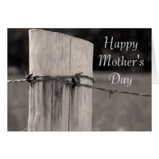 Rural Country Fence Post Happy Mother's Day Card