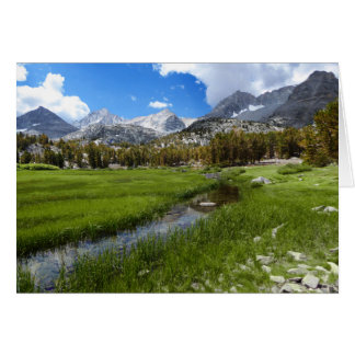 Rural Creek and Mountain Scenery, Blank Inside Card