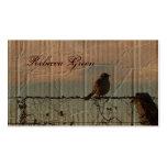 Rural Farm fence bird western barn wedding Pack Of Standard Business Cards