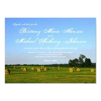 Rural Farm Hay Bales Country Wedding Invitations