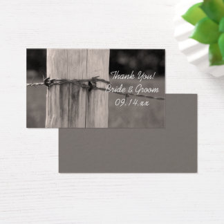 Rural Fence Post Country Ranch Wedding Favor Tags