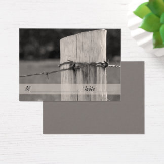 Rural Fence Post Country Ranch Wedding Place Card