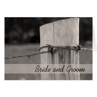 Rural Fence Post Country Wedding Invitation Greeting Card