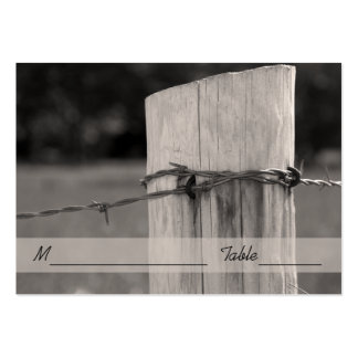 Rural Fence Post Country Wedding Place Card Pack Of Chubby Business Cards