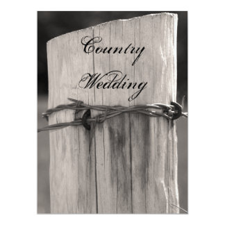 Rural Fence Post Country Wedding Program 17 Cm X 22 Cm Invitation Card