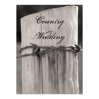 Rural Fence Post Country Wedding Program 17 Cm X 22 Cm Invitation Card
