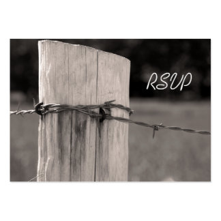 Rural Fence Post Country Wedding Response Card Pack Of Chubby Business Cards