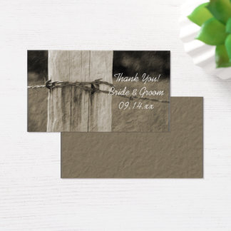 Rural Fence Post Farm Wedding Favor Tags Business Card