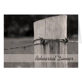 Rural Fence Post Rehearsal Dinner Invitation Greeting Card