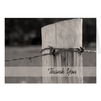 Rural Fence Post Thank You Note Card