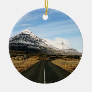 Rural Iceland Round Ceramic Decoration